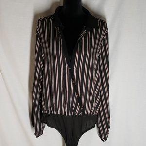 Stripped Bodysuit